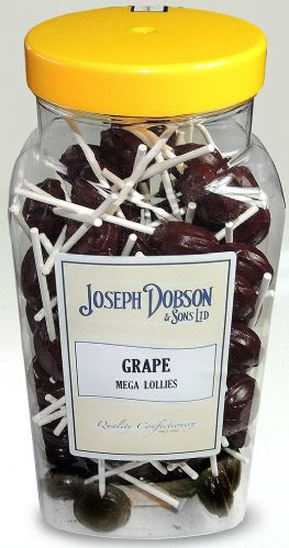 R129 DOBSONS GRAPE MEGA LOLLIES